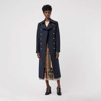 Burberry Double-breasted Wool Cashmere Blend Tailored Coat
