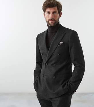 Reiss Our last order date for Christmas has now passed SUTTON DOUBLE BREASTED BLAZER Charcoal