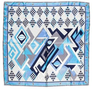 Emilio Pucci Abstract Printed Silk Scarf $85 thestylecure.com