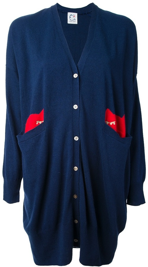 Tsumori Chisato Cats By buttoned cardigan