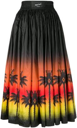 Marcelo Burlon County of Milan Palm Long skirt