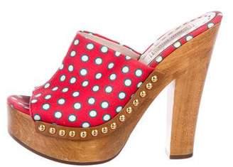 Miu Miu Platform Slide Sandals