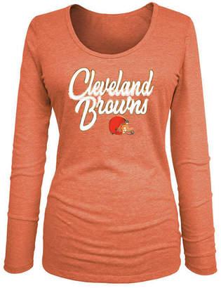 ca705ff61 5th   Ocean Women Cleveland Browns Long Sleeve Triblend Foil T-Shirt
