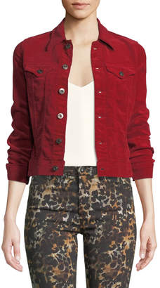 AG Jeans Robyn Button-Front Corduroy Jean Jacket