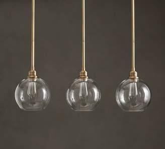 Pottery Barn PB Classic 3-Light Pendant with Glass Globe Shade