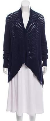 Rebecca Taylor Wool Blend Mesh Knit Cardigan