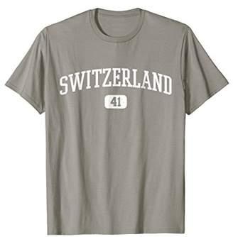 41 Country Area Code Switzerland Swiss Pride T-Shirt