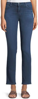 J Brand Maude Mid-Rise Cigarette Jeans in Belladonna