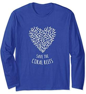 Save the Coral Reefs - Coral Love Heart - Long Sleeve Shirt