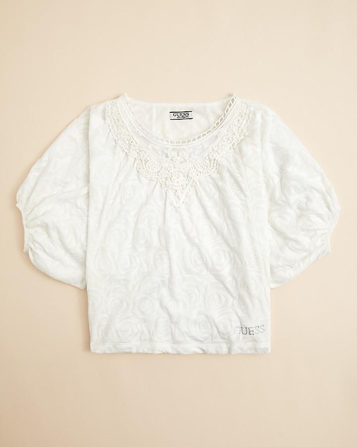 GUESS Girls' Burnout Dolman Sleeve Shirt - Sizes S-XL