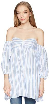 Romeo & Juliet Couture Off the Shoulder Sweetheart Tunic Women's Blouse