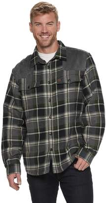 Coleman Men's Classic-Fit Plaid Sherpa-Lined Shirt Jacket