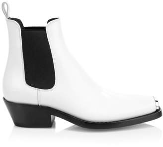 Calvin Klein Claire Western Leather Ankle Boots
