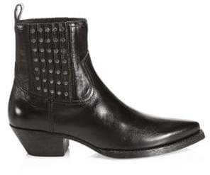 Saint Laurent Huston Leather Ankle Boots