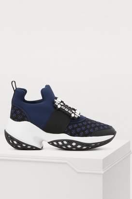 Roger Vivier Viv 'Run sneakers with rhinestone buckle