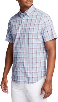 Nautica Classic-Fit Wrinkle-Resistant Plaid Button-Down Shirt