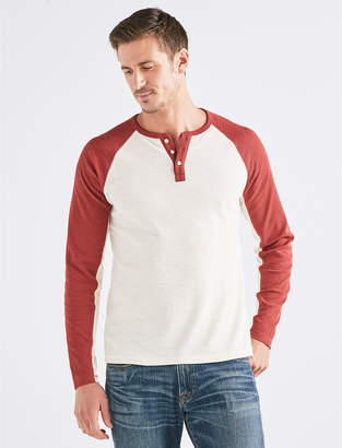 Lucky Brand VENICE BURNOUT COLORBLOCK THERMAL HENLEY