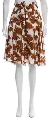 Marni Pleated Floral Print Skirt