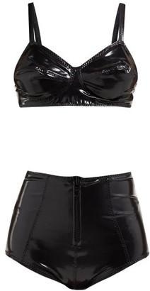 Lisa Marie Fernandez Goldwyn Conical Pvc Bikini - Womens - Black