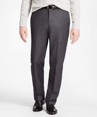 Brooks Brothers Madison Fit Grey Tonal Check Trousers