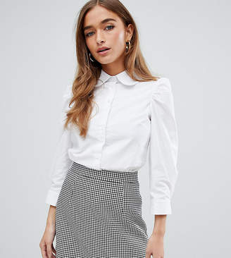 0b0d4c04 Fashion Union Petite petite shirt with peter pan collar
