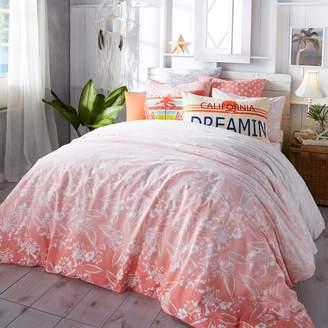 Hang Ten Ombre Hibiscus Duvet Cover Set