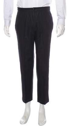 Miu Miu Cropped Flat Front Cuffed Pants