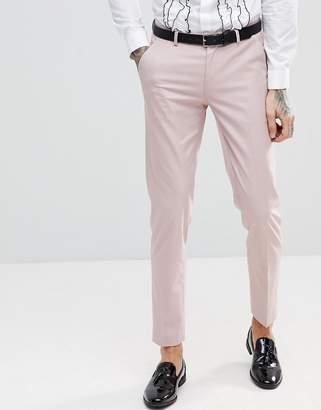 Asos Design Skinny Tuxedo Suit Pants In Dusky Pink