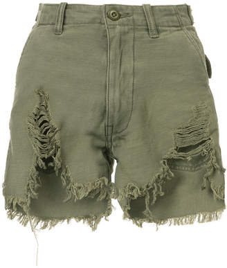 R 13 distressed hot shorts