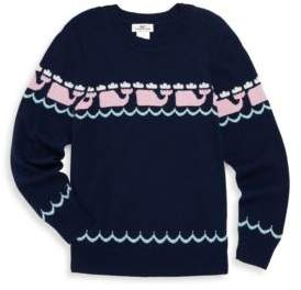 Vineyard Vines Toddler's, Little Girl's& Girl's Multi Whale Sweater