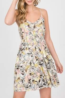 Paper Crane Tropical Print Dress