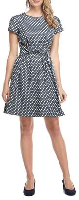 Gal Meets Glam Amy Polka Dot Fit & Flare Dress