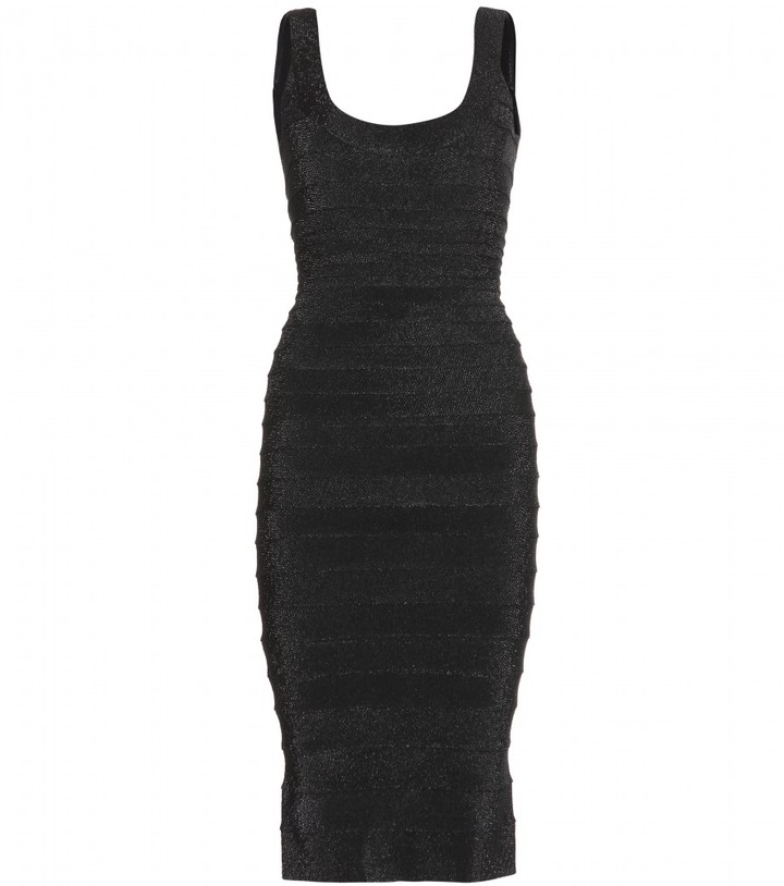 Herve Leger Ebba textured bandage dress