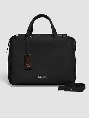 Calvin KleinCalvin Klein Womens Pebble Duffle Bag Black