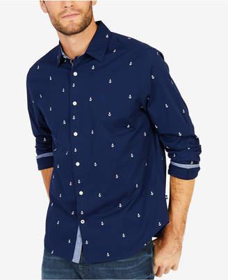 Nautica Men's Stretch Anchor-Print Shirt