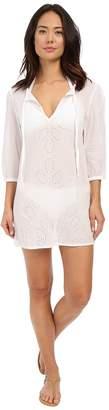 Echo Ocean Eyelet Tunic Women's Short Sleeve Pullover