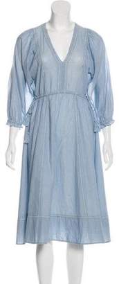 Ulla Johnson Striped Midi Dress