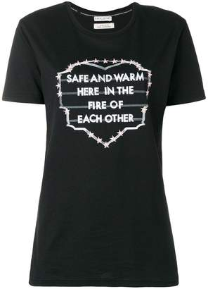 Each X Other slogan print embroidered T-shirt