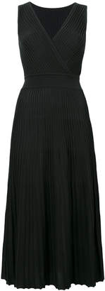 Loro Piana pleated V-neck dress