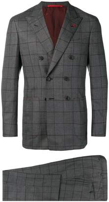 Isaia checked two-piece suit