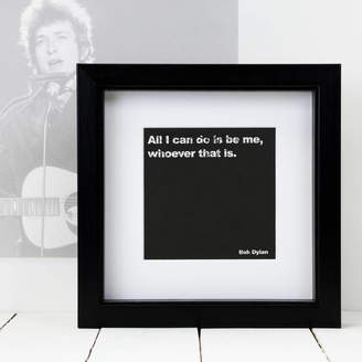 Coulson Macleod Gift For Dads; Framed Bob Dylan Music Quote Print