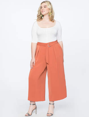 Wide Leg Culotte Pant with Belt