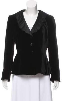 Armani Collezioni Velvet Shawl Collar Blazer
