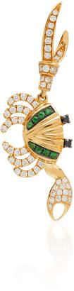 Yvonne Léon 18K Gold Diamond And Tsavorite Earring