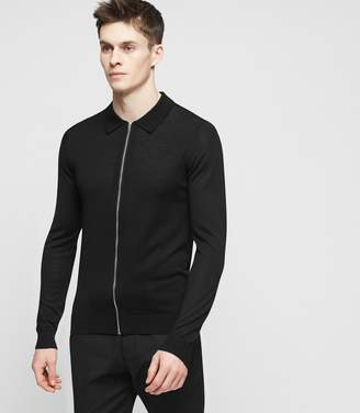 Reiss ORDER BY MIDNIGHT DEC 15TH FOR CHRISTMAS DELIVERY MATTHEUS ZIP-THROUGH CARDIGAN Black