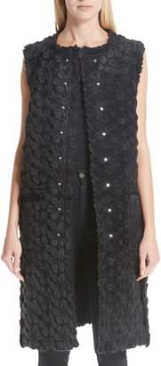 Noir Kei Ninomiya Floral Faux Fur Reversible Vest