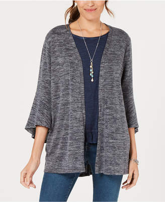 Style&Co. Style & Co Flared-Sleeve Open-Front Cardigan, Created for Macy's
