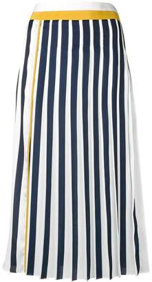Victoria Beckham Victoria striped pleated skirt