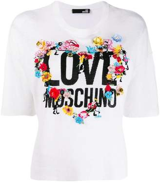 de1a61a2 Love Moschino White Women's Tees And Tshirts - ShopStyle