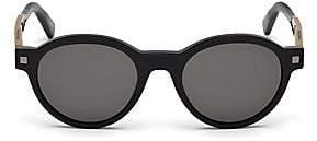 Ermenegildo Zegna Men's Shiny 51MM Oval Sunglasses